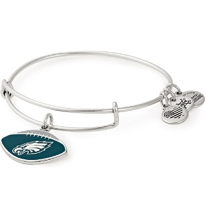 Philadelphia Eagles Football Color Infusion Charm Bangle Silver