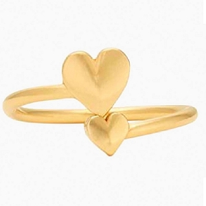 Romance Heart Ring Wrap Gold
