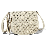 Big Buddha Edith Woven Detail Crossbody Bone