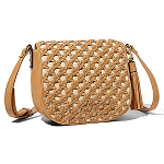 Big Buddha Edith Woven Detail Crossbody Camel