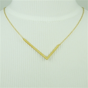 Gold Large Sideways Initial Necklace L