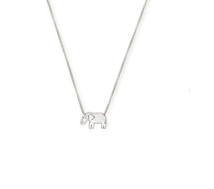 Elephant Adjustable Necklace Sterling Silver