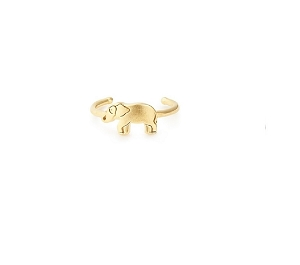 Elephant Adjustable Ring Gold