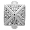 High Rise White Shiny Silver Charm 1225-2