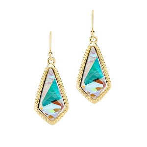 Sloane Statement Earrings Crystal AB 18kt Gold Plated
