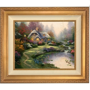 Thomas Kinkade Everetts Cottage Canvas Framed