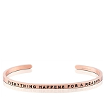 Everything Happens For A Reason Rose Gold