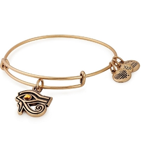 Eye of Horus Charm Bangle Gold