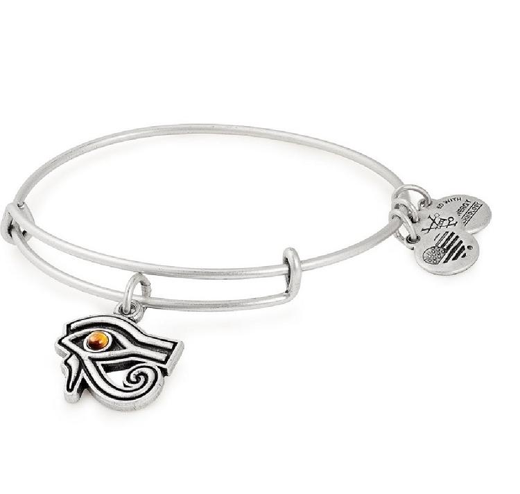 Eye of Horus Charm Bangle Silver