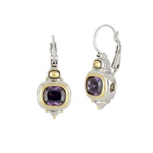 Nouveau French Wire Earrings Amethyst F2758-A300
