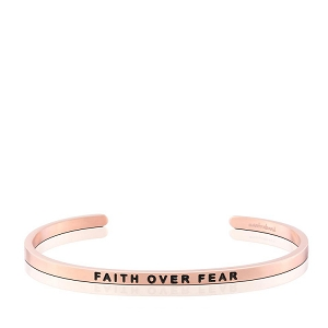 Faith Over Fear Rose Gold