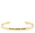 Faith Hope Love Gold