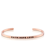 Faith Hope Love Rose Gold
