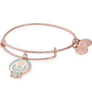 Falcon Charm Bangle Rose Gold