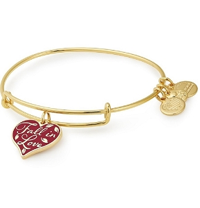 Fall in Love Color Infusion Charm Bangle Gold