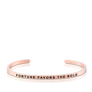 Fortune Favors The Bold Rose Gold