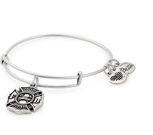 Firefighter Charm Bangle Silver