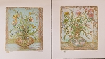 Edna Hibel Ebbtides Garden Set of 2 Lithographs