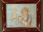 Edna Hibel The Flautist Framed st-315-B 18 1/2 x 15 1/2