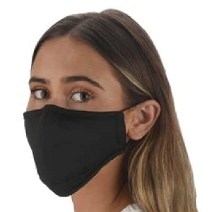 Snoozies Black Reusable Face Covering Mask w/ 4 Filters