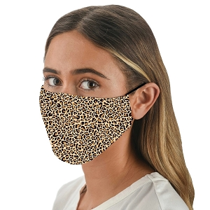 Snoozies Leopard Reusable Face Covering Mask w/ 4 Filters