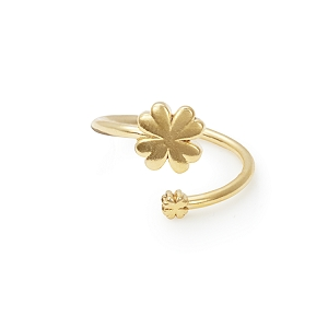 Four Leaf Clover Ring Wrap Gold