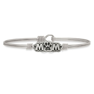 Fur Mom Bangle Bracelet Silver 7.0