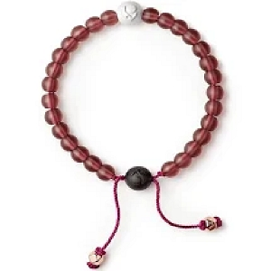 Glass Bead Bracelet Fuchsia Small Medium