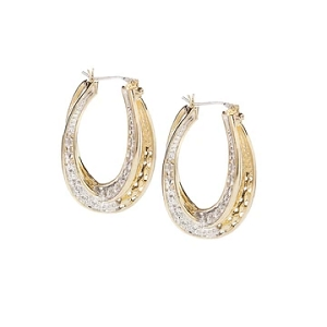 Infinity Collection Pavé Double Oval Hoop Earrings G3821-AF00