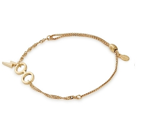 Harry Potter Glasses Pull Chain Bracelet Gold