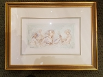 Edna Hibel Gleaners Section 6 le # 7/35 Framed Litho