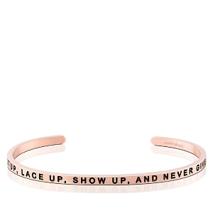 Get Up Lace Up Show Up And Never Give Up Rose Gold