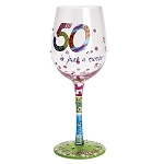 Lolita 50 is Just a Number Wine Glass GLS11-5534D
