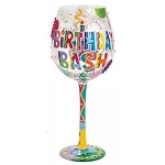 Birthday Bash Super Bling Wine Glass GLS20-5538A