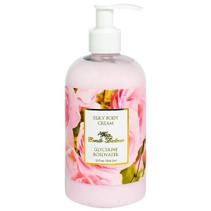 Rosewater Glycerine Silky Body Cream 13oz