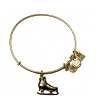 Team USA Ice Skate Charm Bangle Rafaelian Gold