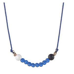 Glass Bead Necklace Royal Blue