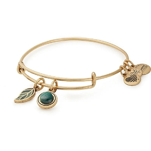 Grounded Duo Charm Bangle Gold