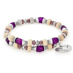 Grove Beaded Wrap Violet  Silver