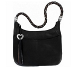 Barbados Ziptop Hobo Black H2045A
