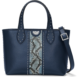 Zoey Small Convertible Tote Snake Print Midnight E3668M