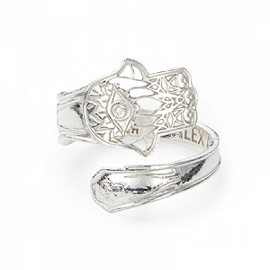 Hand of Fatima Spoon Ring Sterling Silver