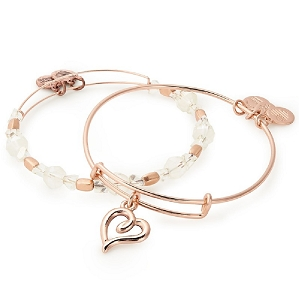 Handwritten Heart Set of 2 Rose Gold