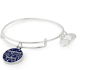 Harry Potter Happiness Can Be Found Charm Bangle Shiny Silver