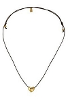 Uno De 50 Gold Heartleft Necklace 18-36