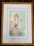 Edna Hibel Heidi Section X framed 19 3/4 x 26