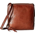 Hobo Small Lyra Leather Crossbody Bag Mahogany