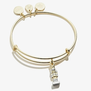Nutcracker Charm Bangle Shiny Gold Stomp Out Bullying