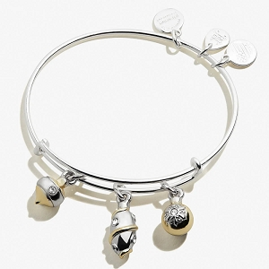 Ornaments Trio Shiny Silver Charm Bangle Baby 2 Baby