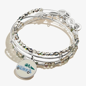 A Christmas Story Charm Bangle Set of 3 Shiny Silver